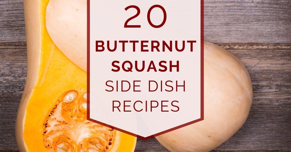 butternut squash side dish recipes fb graphic