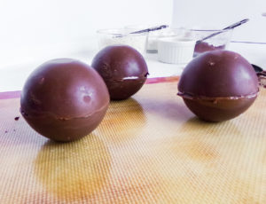 closed hot chocolate bombs