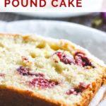 pinnable image of holiday cranberry orange pound cake