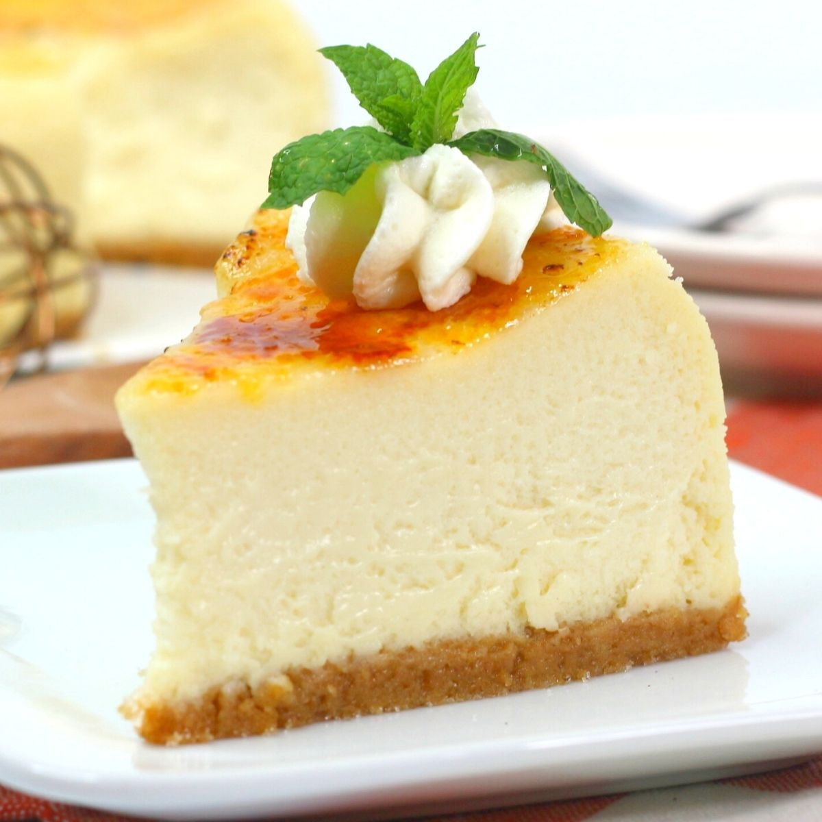 instant pot 6 inch cheesecake with caramelized creme brulee topping