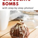 pinnable image of hot chocolate bombs