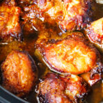 honey garlic chicken in a crock pot
