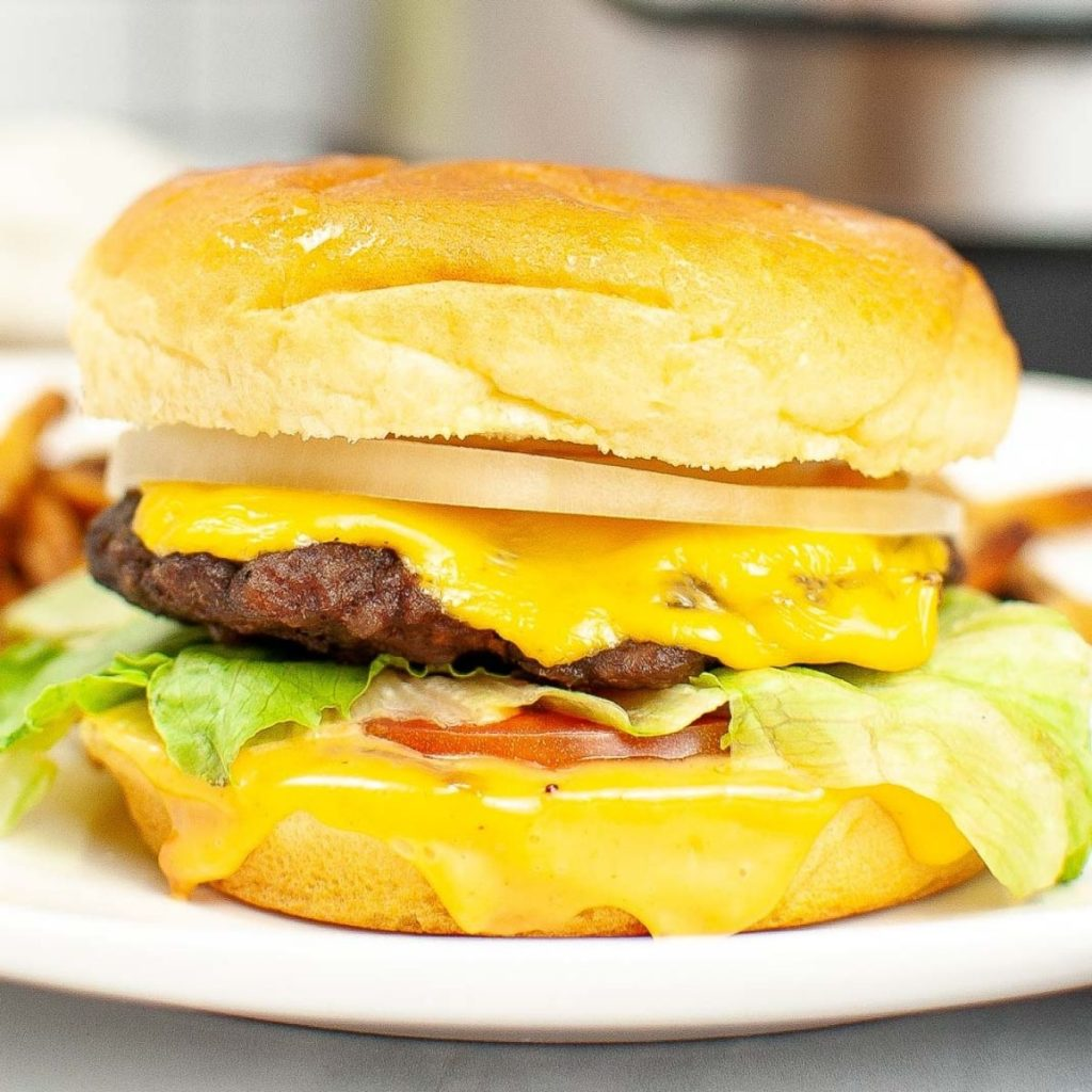Cheeseburger made in the Instant Pot.
