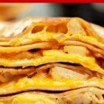 Pinnable image of air fryer quesadilla.