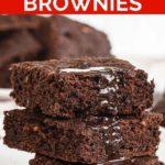 Pinnable image of vegan zucchini brownies.